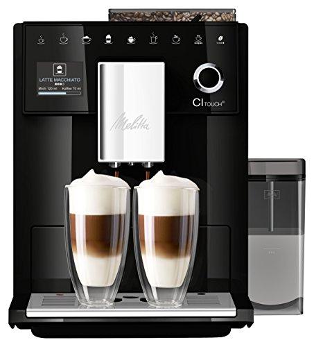 Melitta CI Touch F630-102 Kaffeevollautomat mit Milchbehälter   Flüsterleises Mahlwerk   One Touch Funktion...