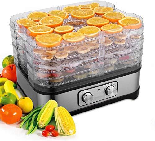 Meykey Dörrautomat mit Temperaturregler, Dörrgerät für Lebensmittel, Fleisch Frucht Gemüsetrockner,...