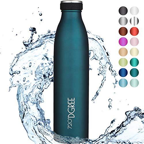 """720°DGREE Edelstahl Trinkflasche """"milkyBottle"""" - 750ml - BPA-Frei, Auslaufsicher, Kohlensäure geeignet -..."""