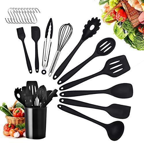 Küchenhelfer Set Silikon, 21 Stück Silikon-Küchengeräte, Advanced Hitzebeständige Küchengeräte...