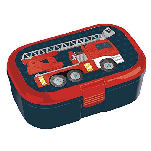 TapirElla Lunchbox / Brotdose Feuerwehr mit herausnehmbaren Obst und Gemüsefach