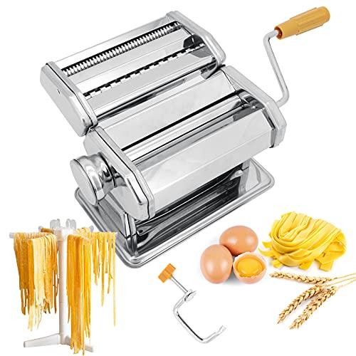 Seahelms Nudelmaschine mit Nudelregal, professionelle Küche, Edelstahl, handgefertigt, Nudelmaschine für...