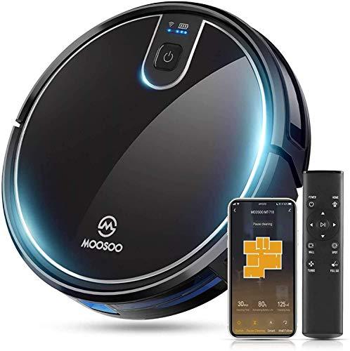 MooSoo Saugroboter WLAN 2100Pa mit Intelligenter Navigation, Alexa& App Steuerung, 120min Akkulaufzeit für...