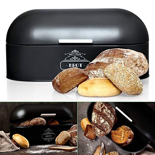 Omi's Beste© Brotkasten aus Metall I Hochwertige Brotbox in verschiedenen Farben I Stillvolle Aufbewahrung...