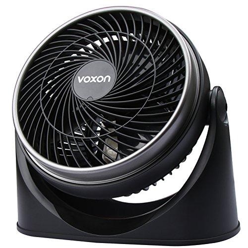 VOXON Ventilator, Tisch-/Wand-Tischventilator Kraftvoller und geräuscharmer Turbo-Ventilatoren mit 3...