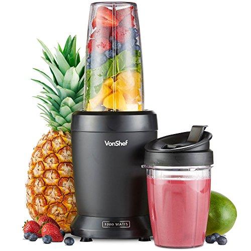 VonShef Personal Blender Multifunktionaler, leistungsstarker Smoothie-Mixer für Obst, Gemüse, Shakes und...