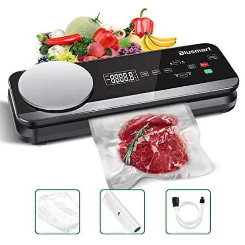 Vakuumierer Blusmart 0.8 Bar Vollautomatisches Vakuumiergerät für Trockene und Feuchte Lebensmittel, mit...