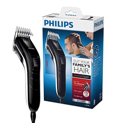Philips QC5115/15 Haarschneider mit 11 präzisen Längeneinstellungen von 3mm bis 21mm,Haarschneidemaschine...