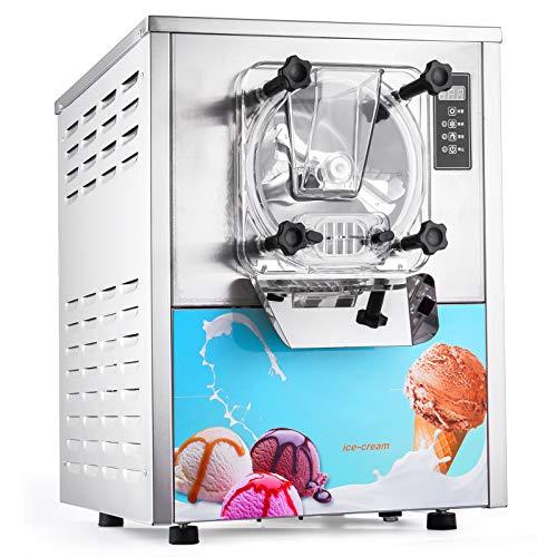 VEVOR Speiseeisbereiter 16-20L /H kommerzielle Eismaschine 1400W Softeismaschine für Bars, Cafés, Milchtee...