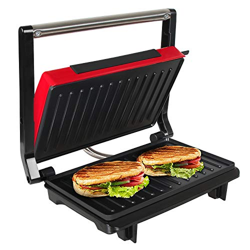 OZAVO Sandwichtoaster, Kontaktgrill mini, Panini Sandwich Maker, Elektrogrill Multifunktion, kleine...