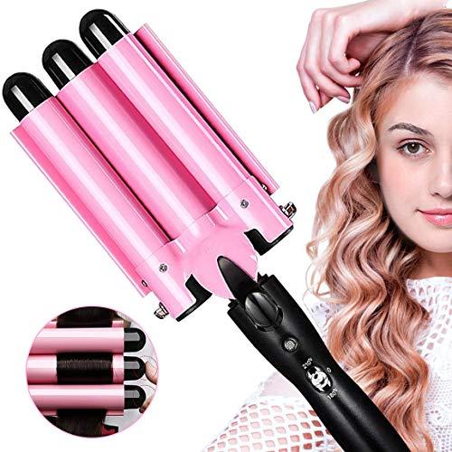 Aibeau, Lockenstab 3 Dreifache Fässer lockenstäbe Haarwickelzange Hair Waver Pearl Waving Lockenwickler,...