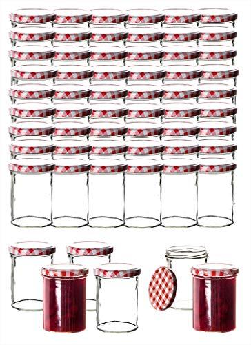 36x Einmachgläser 435 ml für Pasteurisierung TO 82 - Made in Germany - Marmeladengläser mit Schraub-Deckel...