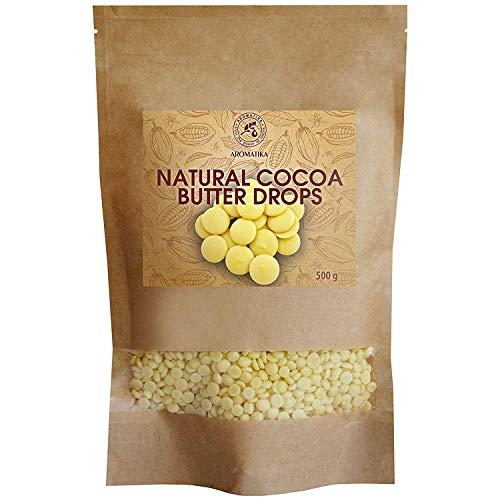 Kakaobutter Chips 500g - Theobroma Kakaobutter - Kakaobutter Tropfen - Reich an Antioxidantien - Reich an...