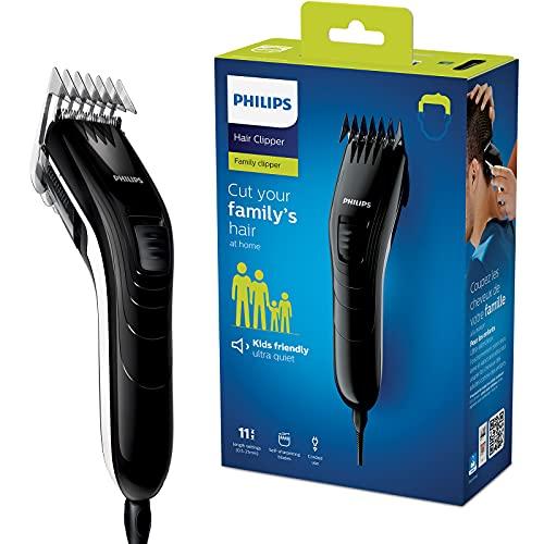 Philips QC5115/15 Haarschneider mit 11 präzisen Längeneinstellungen von 0.5mm bis 21mm, selbstschärfende...