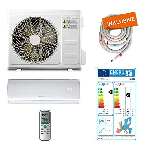 Home Deluxe - Klimaanlage SET Split XL - Kühlen A++/ Heizen A+ - 9000 BTU/h (2.600 Watt) - Kältemittel R32 -...