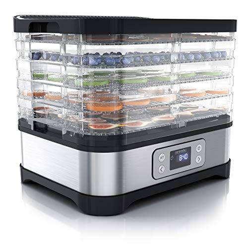 Arendo - Dörrautomat mit Temperaturregler - Edelstahl Dörrgerät für Lebensmittel Fleisch Früchte Gemüse...