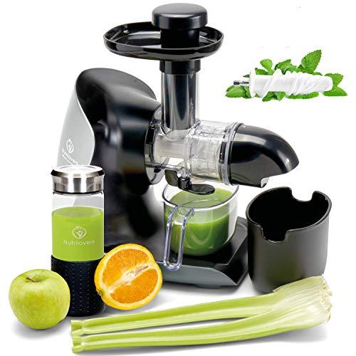 *NEUHEIT* GREEN-PRESS KERAMIK Horizontaler Slow Juicer mit Keramik Pressschnecke BPA-frei | Sellerie,...