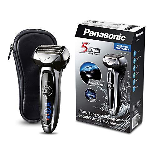 Panasonic Nass/Trocken-Rasierer ES-LV65 passt sich flexibel der Gesichtsstruktur an, Elektro-Rasierer für...