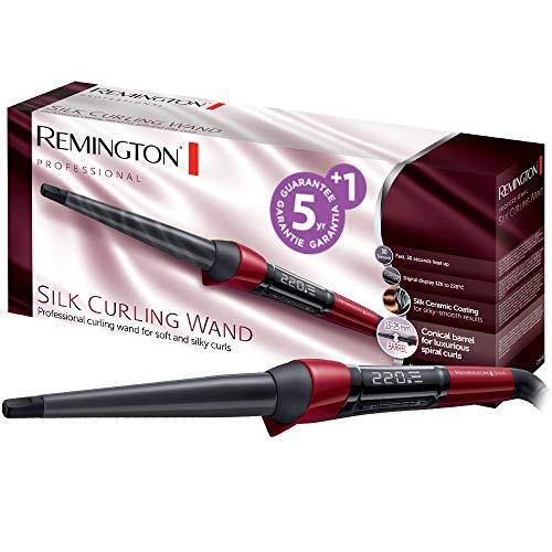 Remington Lockenstab Silk CI96W1, kegelförmig, hochwertige Keramikbeschichtung mit Seidenproteinen,...