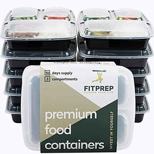FITPREP® - DAS ORIGINAL - 3-Fach Meal Prep Boxen - 10er Pack - für Meal Prep empfohlen- inkl. schönem...