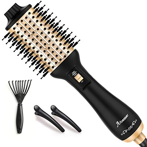 Aibesser Haartrockner, 5 In 1 Upgrade Warmluftbürste Hair Dryer Volumizer Styler Heißluftbürste Negativer...