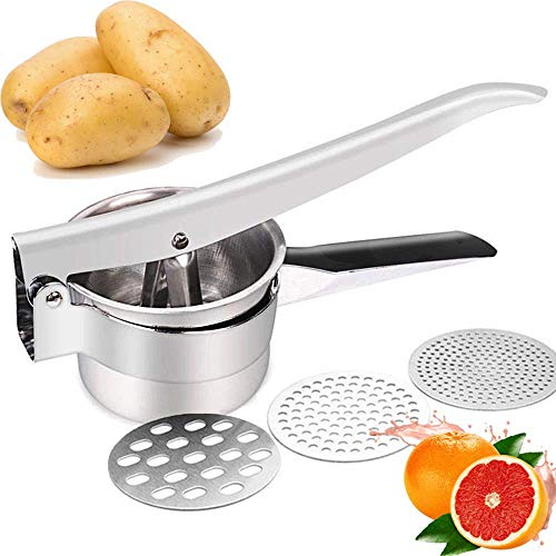 JmeGe Kartoffelpresse (voll gedämpft) Obst und Gemüse Stampfer Große Kapazität 420ml 100% Edelstahl...