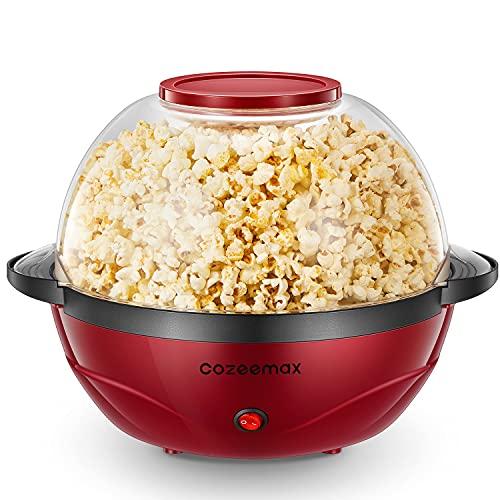Cozeemax Popcornmaschine, 2 in 1 Popcorn Maker, 24 Tassen, 850W elektrisches Rühren mit...