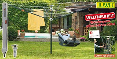 Juwel Wäschespinne Futura Elegant XXL (für 5-6 Waschladungen, Höhe verstellbar 165-190 cm, öffnet...