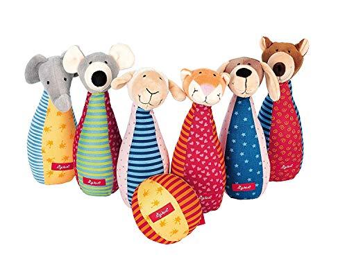 SIGIKID 49520 Kegelspiel Soft PlayQ Mädchen und Jungen Babyspielzeug empfohlen ab 3 Monaten mehrfarbig