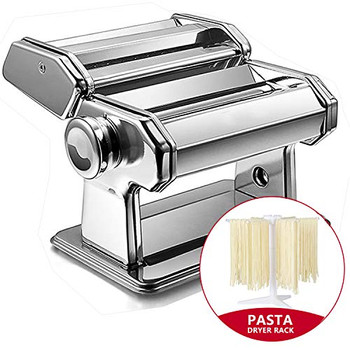 Nudelmaschine Manuell, Pastamaschine aus Edelstahl, manuelle Nudelmaschine mit 2 verschiedenen Nudelwalzen,...