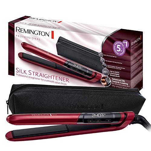Remington Glätteisen Silk (Doppelschicht-Keramikbeschichtung mit Seidenproteinen für samtig glatte &...