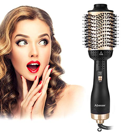 Aibesser Haartrockner, Multifunktions 5 IN 1 Warmluftbürste Hair Styler &Volumizer Heißluftbürste Negativer...