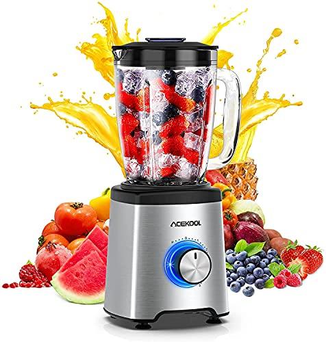 Standmixer Smoothie Mixer Acekool 800W BC1 Smoothie Maker Blender mit 1.75L BPA-Free Glasbehälter , 6...