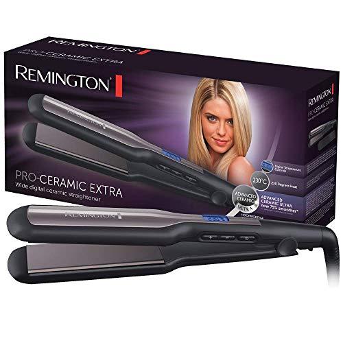 Remington Glätteisen breit Pro-Ceramic Extra (extra breite 45mm Stylingplatten -speziell für dickes,...