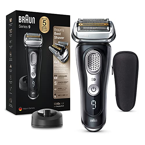 Braun Series 9 Premium Rasierer Herren mit 4+1 Scherkopf, Elektrorasierer & Trimmer für Präzision,...