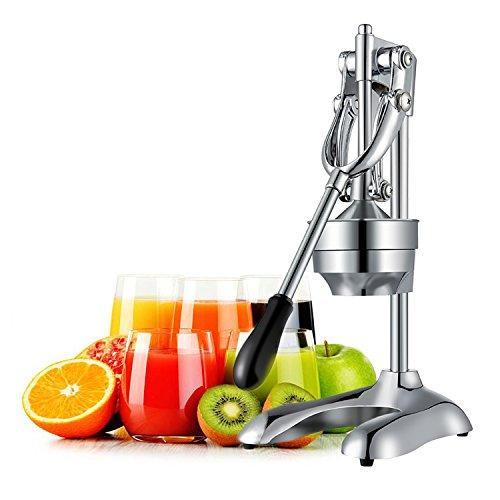 OZAVO Saftpresse manuell, Hebel Zitronenpresse, Zitruspresse, rostfrei Orangen-Limettenpresse Squeezer aus...