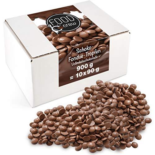 Sweet Wishes 900g Belgische Fondue-Schokolade Vollmilch-Drops - zart schmelzender Hochgenuss feine Leckerei...