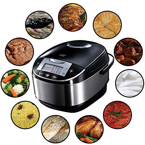 Russell Hobbs Multicooker 5,0l (digitales Display + Timer), 11 Kochprogramme (Schongarer, Dampfgarer, Slow...