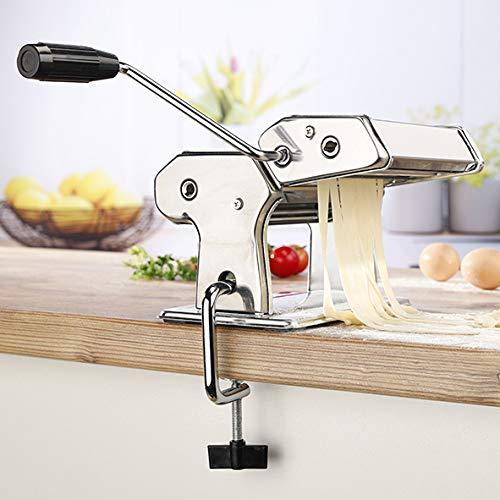 Edelstahl Nudelmaschine Pastamaker Nudel Pasta Maschine Maker Spaghetti Lasagne Manuell Geschenk leichte...