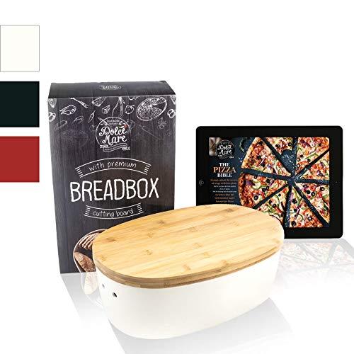 DOLCE MARE Bambus Brotbox - Hübscher Brotkasten - extrem praktischer Brottopf - Ausgefallener Brotkorb aus...