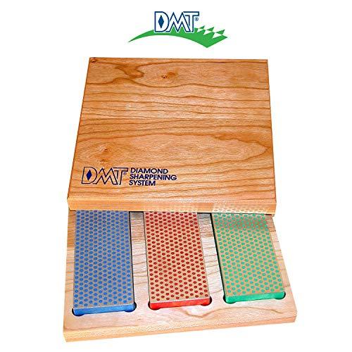 DMT Diamant-Schärfstein in Box aus Hartholz, 15,2 cm / 6 Zoll, Set mit 3 Schärfsteinen in 3 Körnungen,...
