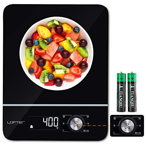 LOFTer Digitale Küchenwaage, Haushaltswaage mit Wiege- und Summenfunktionen, LED Display-wunderbare...