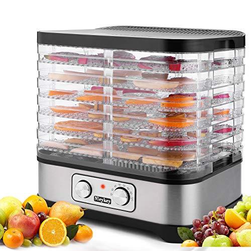 Dörrautomat mit Temperaturregler, 7 Etagen Dörrgerät für Lebensmittel, Obst- Fleisch- Früchte-Trockner,...