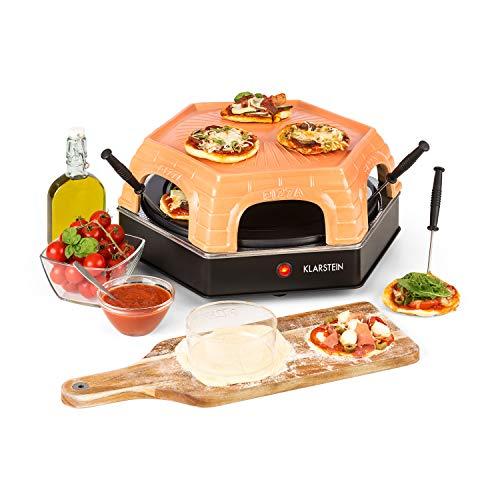 Klarstein Capricciosa - Pizzaofen für 6 Personen, Pizzadom, elektrisch, 1500 Watt, 5-7 Min. Backzeit,...