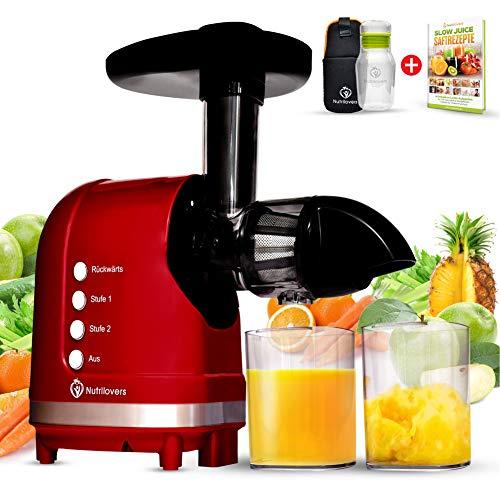 *NEU* Nutrilovers MINI-PRESS Slow Juicer für Singles, Paare & Kleinere Küchen - Obst & Gemüse Entsafter...