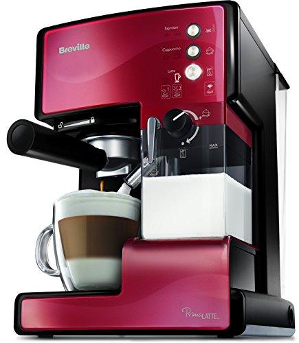 Breville PrimaLatte Kaffee- und Espressomaschine   italienische Pumpe mit 15 Bar   fr Kaffeepulver oder Pads...