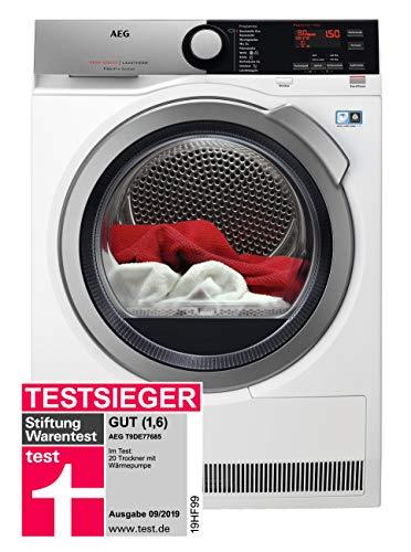 AEG T9DE77685 Wärmepumpentrockner / FiberPro – Trocknen ohne Vorsortieren / 8,0 kg / A+++ / energiesparend...