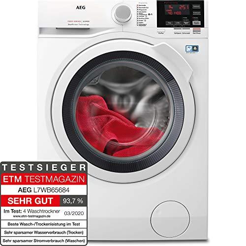 AEG L7WB65684 Waschtrockner / DualSense - schonende Pflege / 8,0 kg Waschen / 4,0 kg Trocknen / Energiesparend...