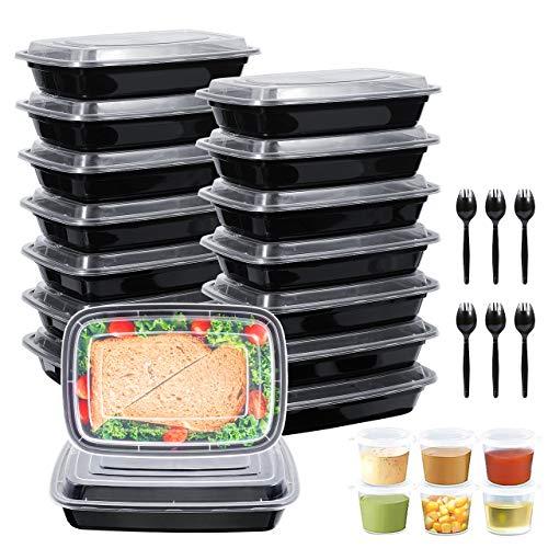 Gifort 16PACK Meal Prep Container mit Deckel, BPA-freie Wiederverwendbare Frischhaltedosen, Tragbar, Stapelbar...