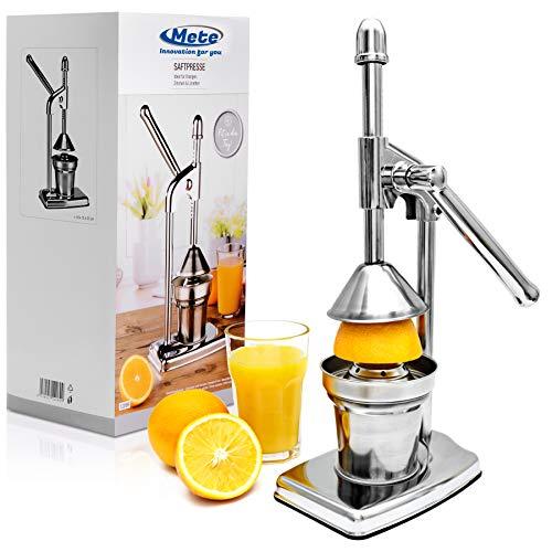 Saftpresse Fruchtpresse aus Edelstahl, Premium Orangenpresse, Entsafter für Obst, Zitruspresse, für...